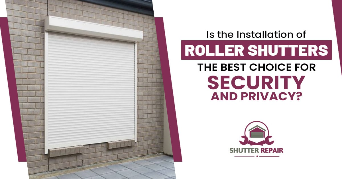 What are the common myths related to the working of security roller shutters?
